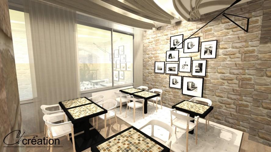 salle petit déjeuner décorée par ct création architecte d'intérieur six fours