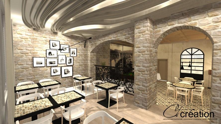 salle petit déjeuner décorée par ct création architecte d'intérieur bandol