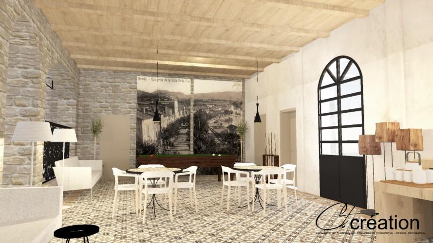 salle de repos pour clients hôtel avec billard à Bandol