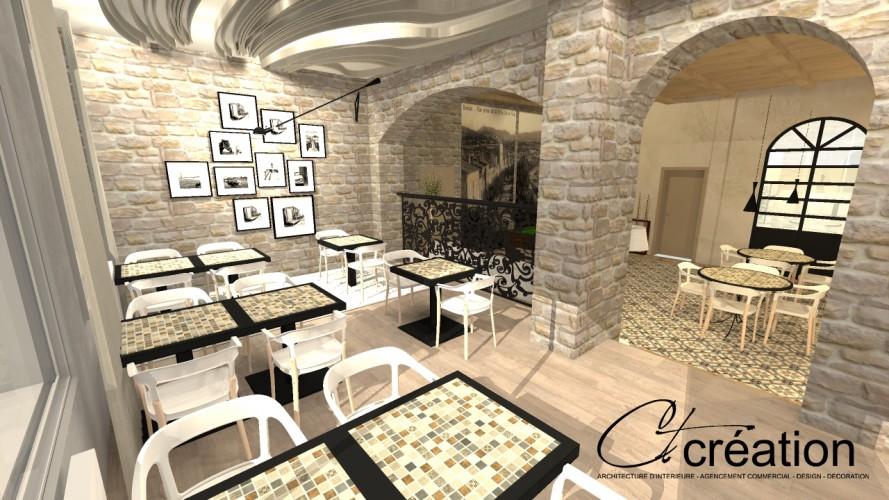salle petit déjeuner décorée par ct création architecte d'intérieur toulon