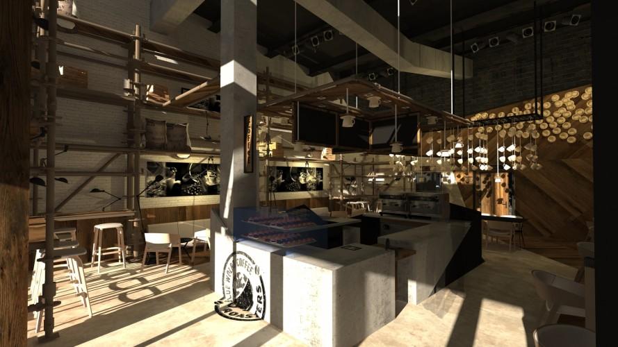 design et agencement d'un coffee shop