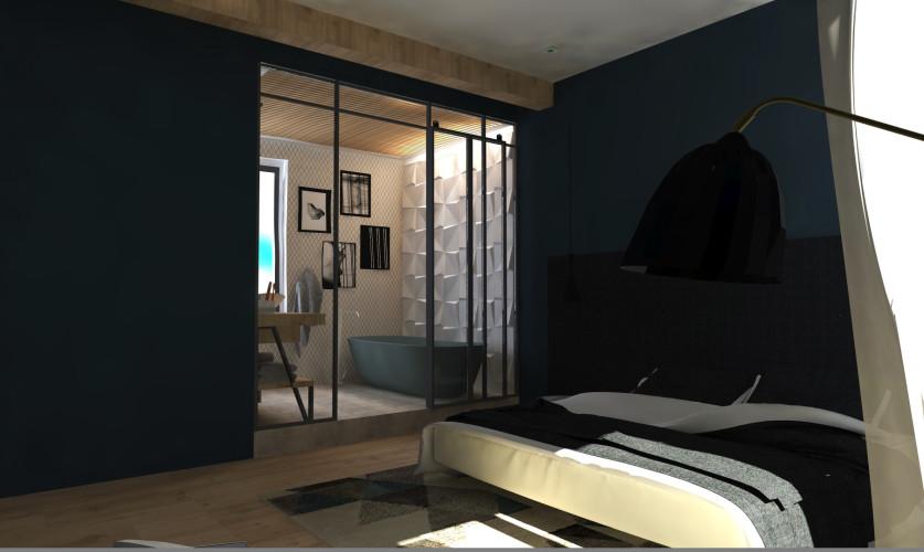 rendu 3D Salle de bain toulon