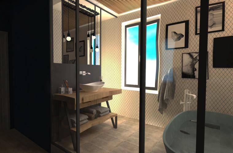 rendu 3D Salle de bain concours bob carrelage