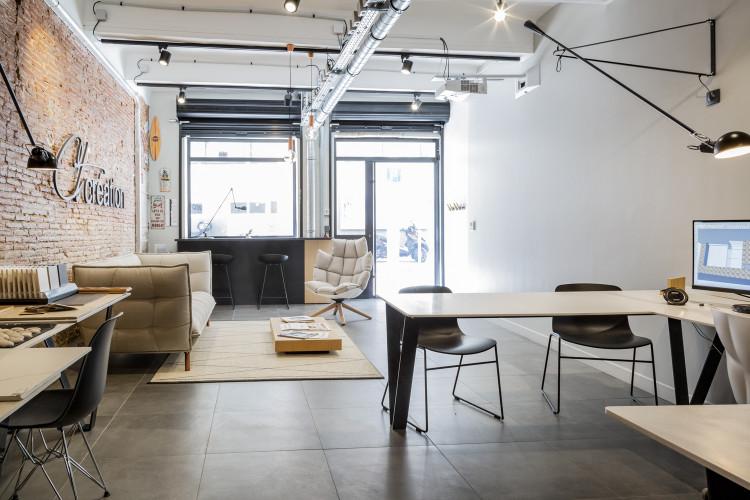 vue intérieure d'in bureau d'architecte à Toulon dans le var