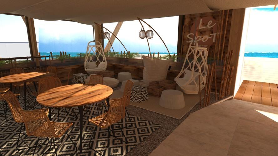 décorateur vue 3D design restaurant cayenne