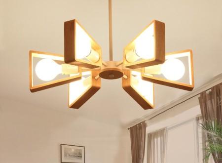 lustre led rond avec 6 ampoules