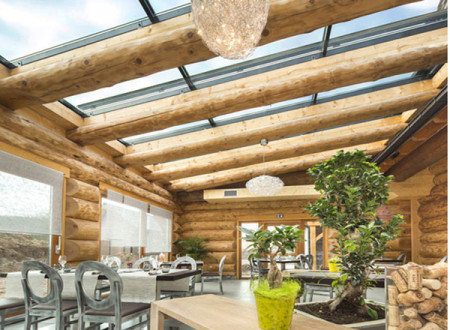 Superbe maison en bois avec verriere partout