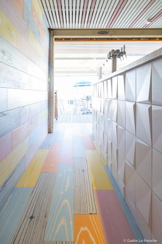 décoration intérieure restaurant bord de mer Bandol