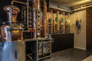 Agencement commercial distillerie gin toulon