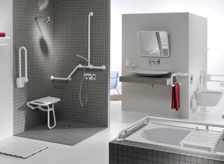 Salle de bain handicapé et personnes agés agencement sur mesure par achitecte