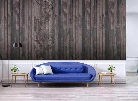 Habillage mur en bois