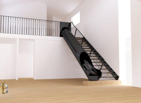 Escalier toboggan hf metal