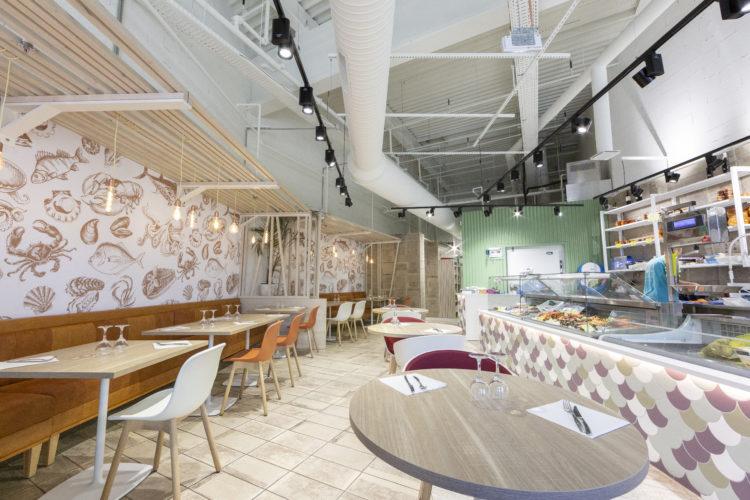 décoration restaurant de type Écaillé
