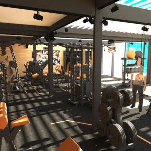 design d'intérieur salle de sport privative