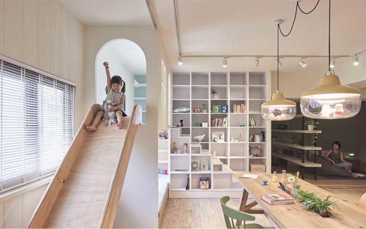toboggan chambre enfant