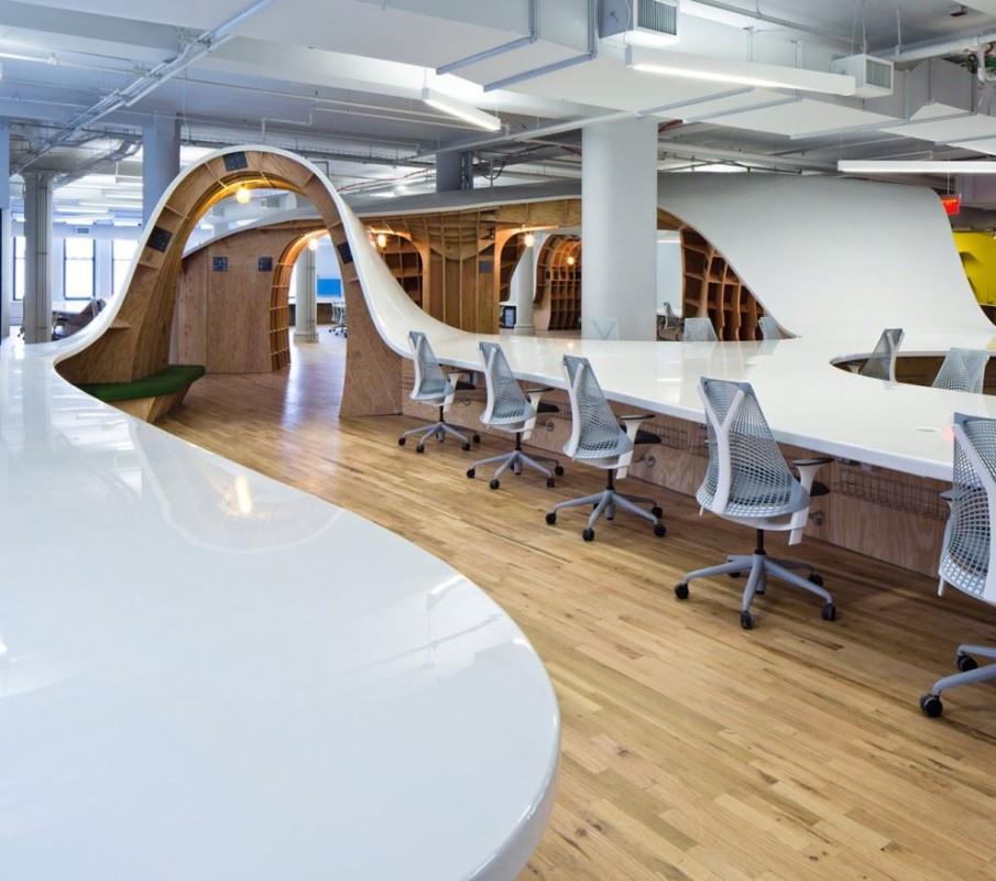 Agencement et design d 39 espace hallucinant new york Agencement bureau