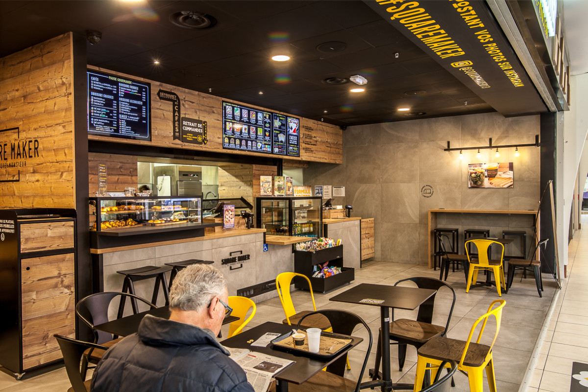 Agencement Commercial Restaurant Fast Food Squaremaker Toulouse